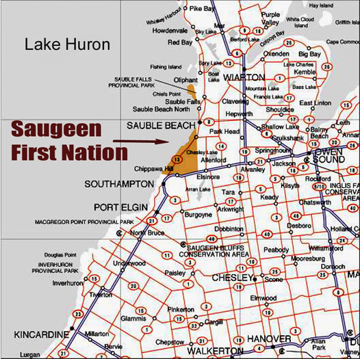 Saugeen FN Map